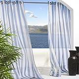 Outdoor decor 70503-109-96-601 Escape Stripe Window Treatment Panel, Blue