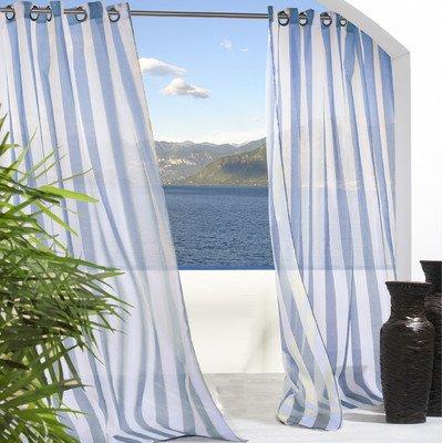 - Outdoor Decor 70503-109-96-601 Escape Stripe Window Treatment Panel, Blue