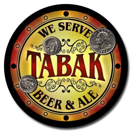 Tabak Family Name Beer & Ale Neoprene Coasters - Set 4pcs