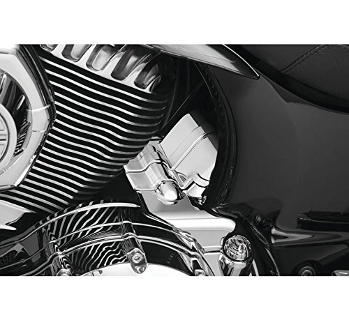 Kuryakyn Chrome Transmission Cover for Indian 2014-2018 Chief Classic, Chief Dark Horse, Chief Roadmaster, Chief Vintage, Chieftain, and Springfield Models