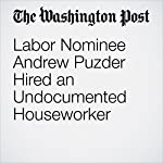 Labor Nominee Andrew Puzder Hired an Undocumented Houseworker | Jonnelle Marte,Ed O'Keefe
