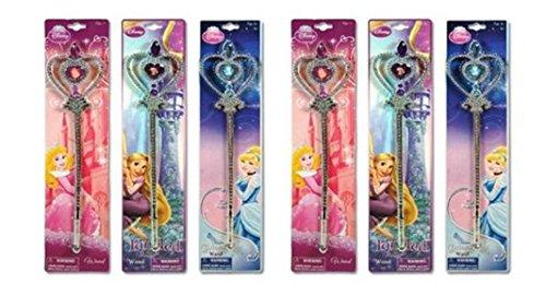 Disney Princess Wandx 6 (2 Blue Cinderalla , 2 Pink and 2 Purple - Tangled Wand) (Cinderalla Dress)
