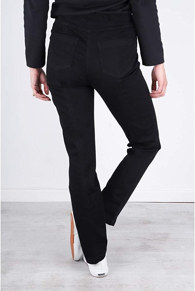 Robell Bella Jeans Denim Power Stretch Lang Schlupfhosen Stretchhosen Black - 90