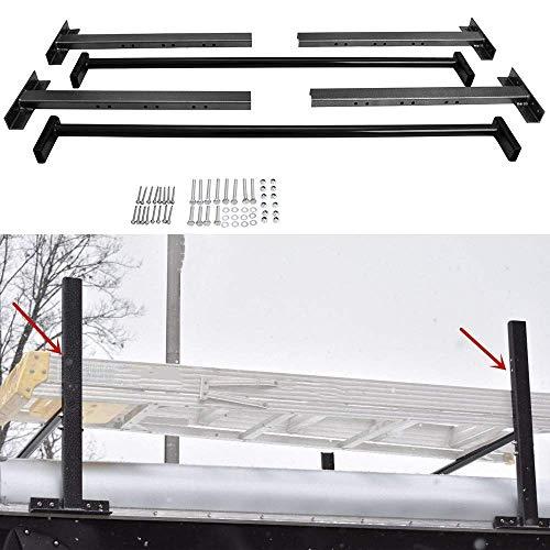 tiewards Adjustable Roof Ladder Racks Fit for Enclosed Trailers Trucks Vans