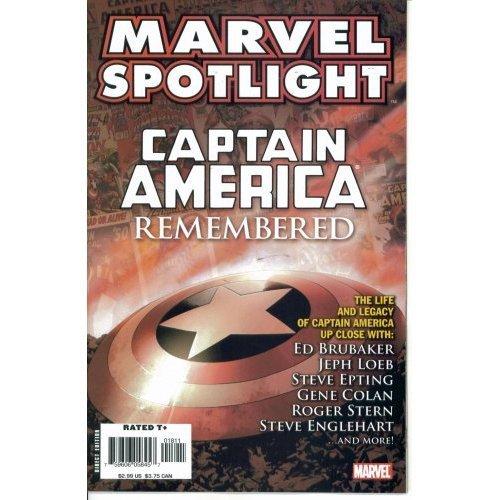 Read Online Marvel Spotlight : Captain America Remembered (Marvel Comics) ebook