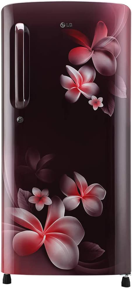 LG 190 L 4 Star Inverter Direct-Cool Single Door Refrigerator (GL-B201ASPY, Scarlet Plumeria)