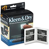 Kleen & Dry Screen Cleaner Wet Wipes, Cloth, 5 x 5, 40/Box