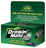 Drinkin  Mate Feel Better the Next Day Tablets, 6-Count Packages- Wild Berry (Pack of 2)