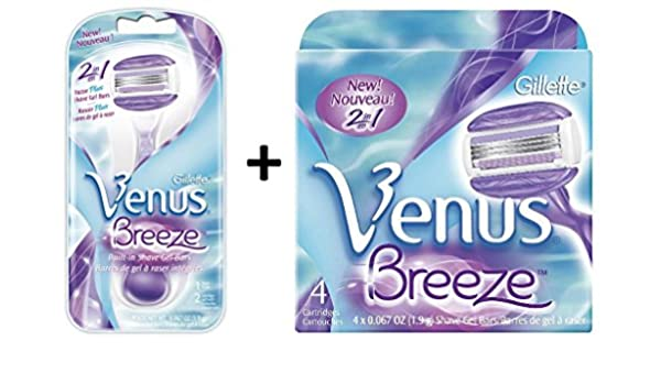 afeitadora gillette venus breeze + pack 4 recambio: Amazon.es: Belleza