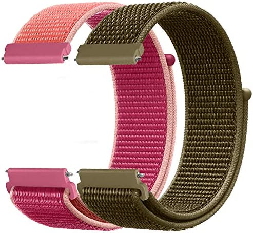 Watdoc 20mm Quick Release Watch Band Compatible for Watch Band Samsung Galaxy Watch 42mm/Samsung Active 2 44mm 40mm/Gear S2 Classic/Garmin Vivoactive 3 Nylon Replacement Sport Strap