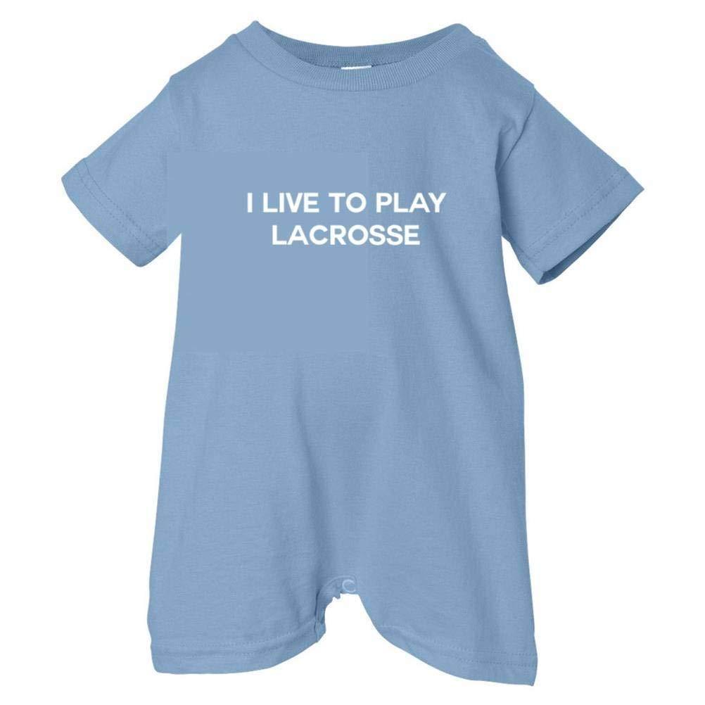 Mashed Clothing Unisex Baby I Live To Play Lacrosse T-Shirt Romper