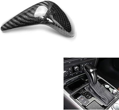 Carbon Fiber Car Interior Handbrake Cover Gear Shift Cover Shift Knob Cover Cap For Audi A6 2016 2017 2018//A7 2015 2016 2017 2018