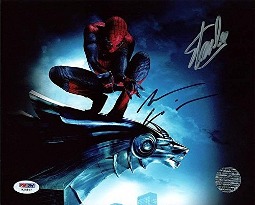 Stan Lee & Andrew Garfield Spider-Man Signed 8 x 10 Photograph - PSA/DNA Authenticated