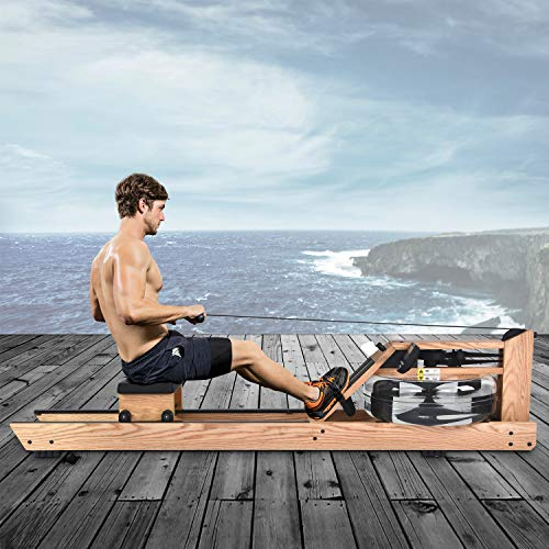 Oak Wood Water Rowing Machine with Monitor Home Gyms Training Equipment Sports Exercise Machine Fitness Indoor