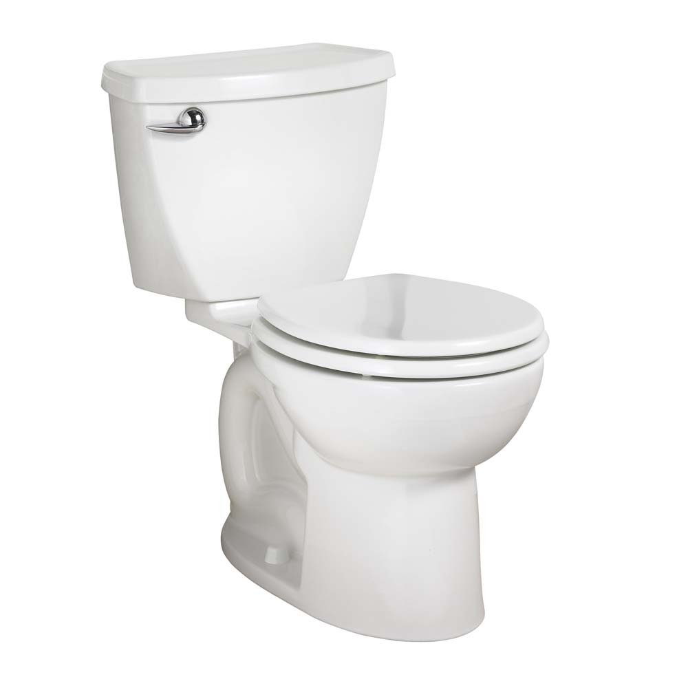 American Standard Cadet 3 Right Height Round Front Flowise Two-Piece High Efficiency Toilet with 12-Inch Rough-In, White White
