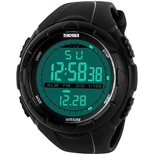 Skmei 1025 Men Sport Watch Digital Watch Waterproof 50m (Black) - 1