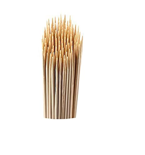 Amazing Wood Bamboo skewers, Barbecue Sticks, Cocktail Party Sticks, Kebab skewers, eco-Friendly 6 inch Bamboo brochette Pack of 150 Sticks