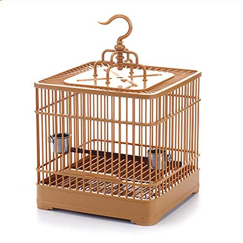 Gorge-buy Bird Feeding Cage - Breathable Bird Carrier Parrot Retro Square Birds Travel Cage for Small Birds, Detachable Lightweight Bird Carrier