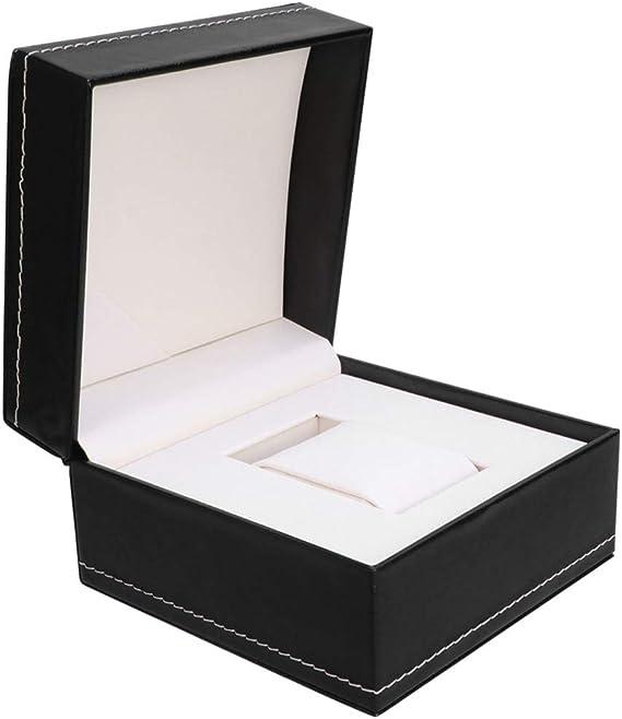 Hemobllo Caja de Reloj Caja de Almacenamiento de Reloj Caja de Reloj Individual Caja de exhibición de joyería Caja de Regalo pequeña para Reloj de joyería (Negro): Amazon.es: Relojes