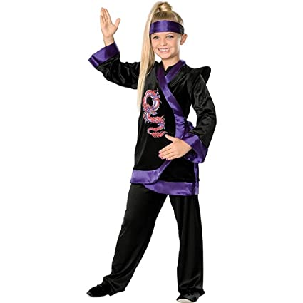 Purple Dragon Ninja Kids Costume