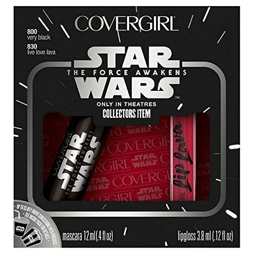 CoverGirl Star Wars Limited Edition Dark Side Collector's Set - Featuring Mascara Very Black & Lip Gloss Lava Live Love, 4.12 oz