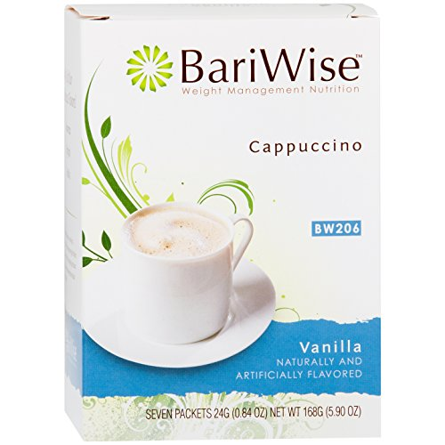 1 Beverage Hot (BariWise High Protein Powder Hot Drink/Instant Low-Carb Cappuccino Mix (15g Protein) – Vanilla (7 Servings/Box) - Low Calorie, Low Carb, Low Fat, Aspartame Free)