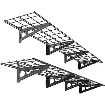 FLEXIMOUNTS 2 Pack 1x6ft 12 Inch By 72 Wall Shelf