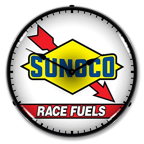 collectable-sign-and-clock-710115-14-sunoco-race-fuel-lighted-clock