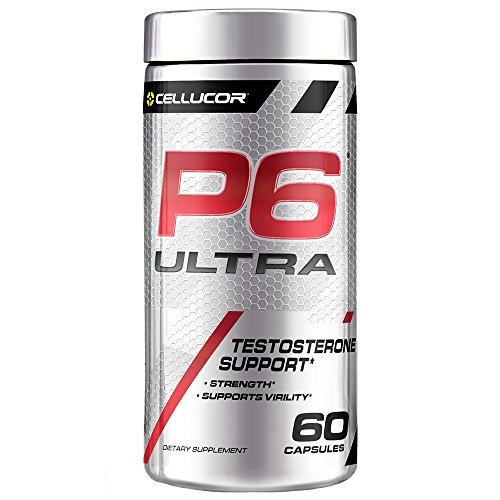 Cellucor P6 Ultra Testosterone Booster For Men, Build Strength & Cognitive Function, Boost Endurance & Energy Performance, Increase Virility Support, 60 Capsules