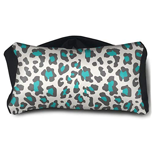 2 In 1 Travel Pillow And Eye Mask Travel Eye Mask Pillow Elastic Cheetah Print Blue Eye Mask Pillow Eyeshade for Sleep Plane Yoga Soothing Stress And Headache Relief -