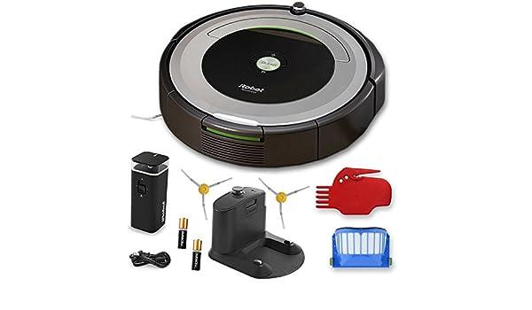 iRobot Roomba 690 Wi-Fi conectado Robot aspirador + 1 modo Dual pared Virtual Barrera (con pilas) + extra Filtro + más: Amazon.es: Hogar