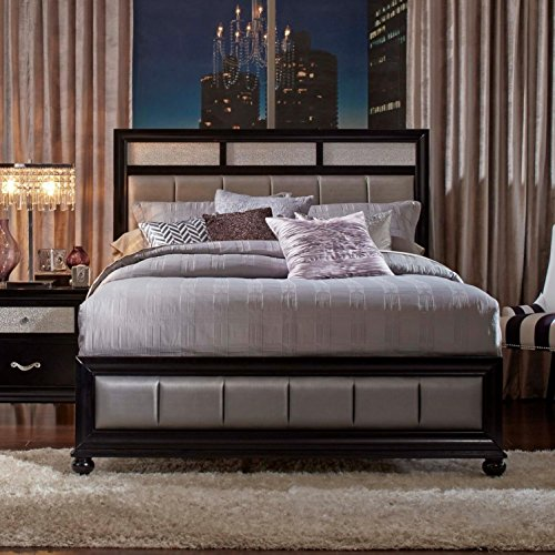 (Coaster Home Furnishings 200891KE Panel Bed, Grey/Black)