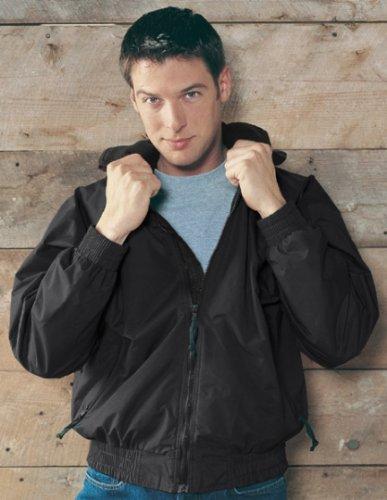 Big Mens Volunteer Jacket with Panda Fleece by by TR Gold® - 2XL (2X) ( Black/Black )