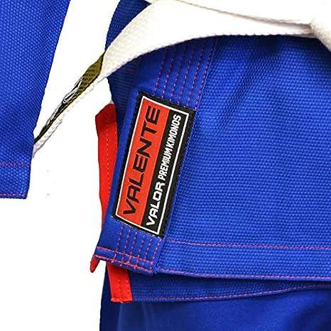Valor Valente Premium BJJ GI con Una Cintura Bianca Elite GI Gratuita.