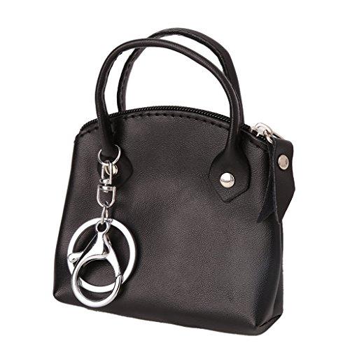 Zip Retro - JAGENIE Women Ladies Retro Zip Coin Purse Mini Handbag Money Wallet Key Pouch Holder Black