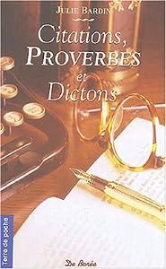 """Afficher """"Citations, proverbes et dictons de chez nous"""""""