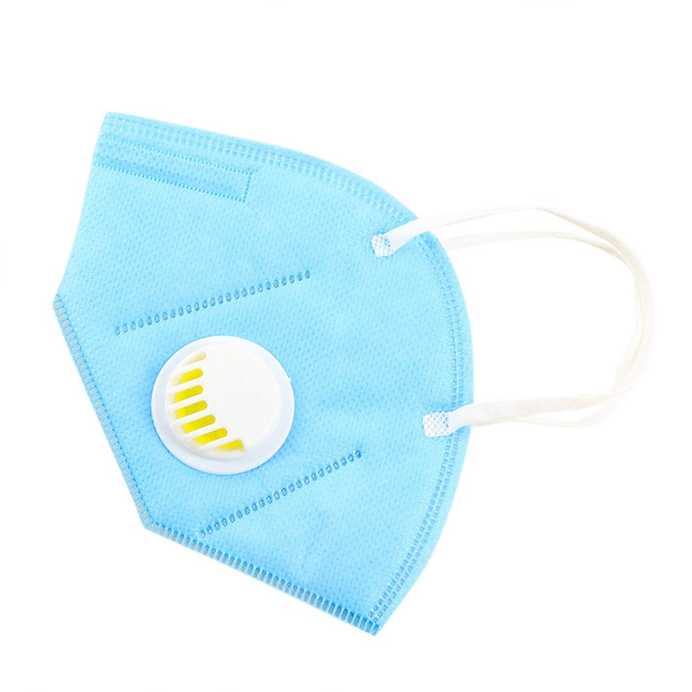 Loneflash Dustproof Mask, 3PC Unisex Warm Breathing Anti-dust Face Mask Windproof Filter Breather Valve Mouth Cover Dust Mask