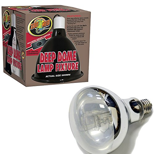 Big Apple Pet Supply Reptile UVA/UVB Kit - Zoo Med Deep Dome & 160W Mercury Vapor Bulb by Big Apple Pet Supply