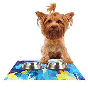 """Kess InHouse Ebi Emporium """"Don't Quote Me Revisited"""" Feeding Mat for Pet Bowl, 18 by 13-Inch 80%OFF"""