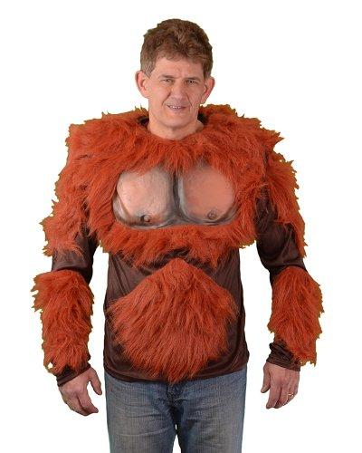 (Zagone Orangutan Shirt, Orange Faux Fur, Tan Latex)