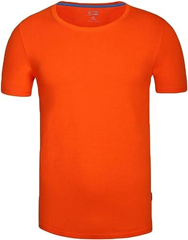 ZKOO Camiseta Hombres Manga Corta Algodón Deporte tee-Shirt ...