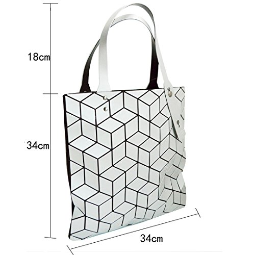 Purse Handbag 2 Clutch White Meliya Shoulder Envelope Laser Fashion Leather Womens Holographic Bag wqfHSv
