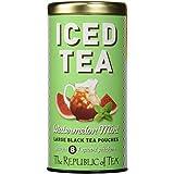 The Republic Of Tea Watermelon Mint Black Iced Tea, 8 Large Pouches / 8 Quarts, Premium Fine Black Tea