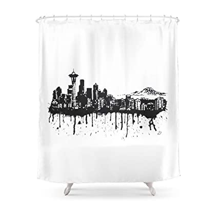 Amazon MAOXUXIN Seattle Shower Curtain 60 By 72 Home Kitchen