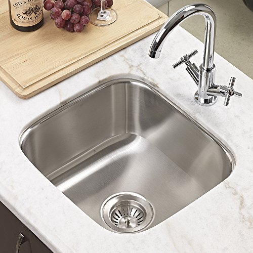 Houzer MS-1708-1 Club Series Undermount Stainless Steel Square Bowl Bar/Prep Sink by HOUZER (Image #1)