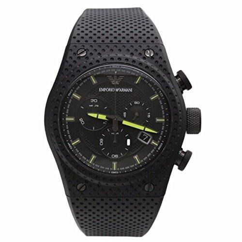 Emporio Armani AR6120 Black Rubber Strap Sport Chronograph Watch with Gift Box $595 ()