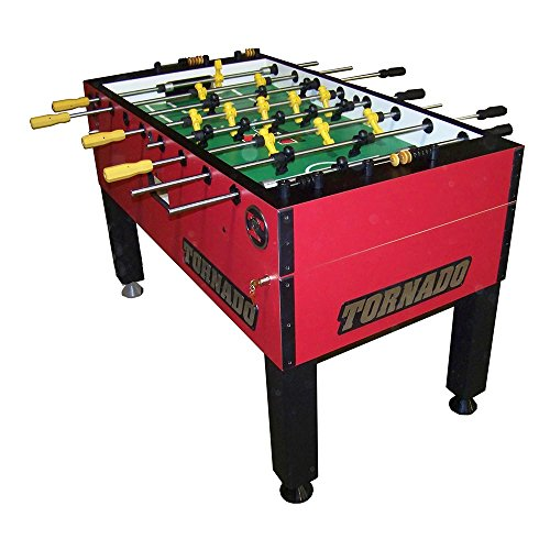 Tornado Foosball Table Tournament 3000 - Red Single Goalie