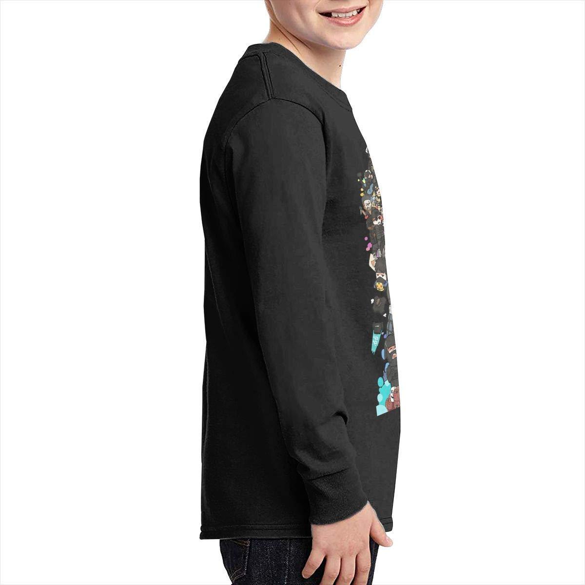 Kilsd Boys /& Girls Junior Cool Rainbow Six Long Sleeve T Shirts Black