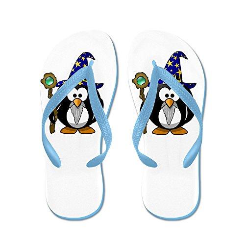 Echt Teague Heren Kleine Ronde Pinguïn - Wizard Rubberen Slippers Sandalen Caribbean Blue