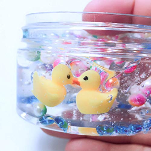 Cyhulu 60ml/100ml Mud Mixing Cloud Slime Putty, Fashion Little Yellow Duck Stress Relief Clay Toy for Kids Christmas Easter Birthday Gift Party Favors (Multicolor, 100ML) by Cyhulu (Image #3)